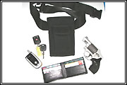 Holdstar with wallet keys cell phone and gun