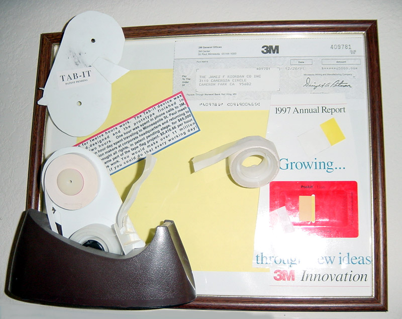 Tab It Tape Dispenser sold to 3M in 1991