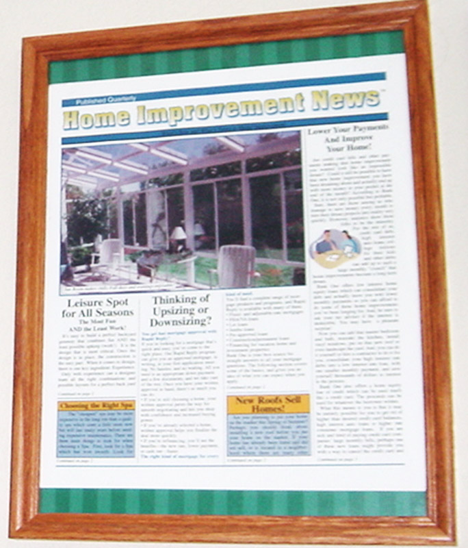 "Home improvement news ""Advertorial"" publication"