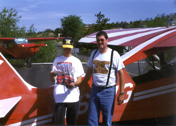 Jim Riordan and Brett Riordan after Brett Received his Student Pilot License