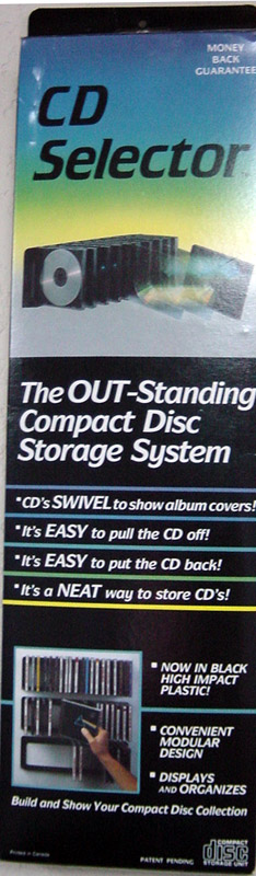 The CD selector easy to load easy to view