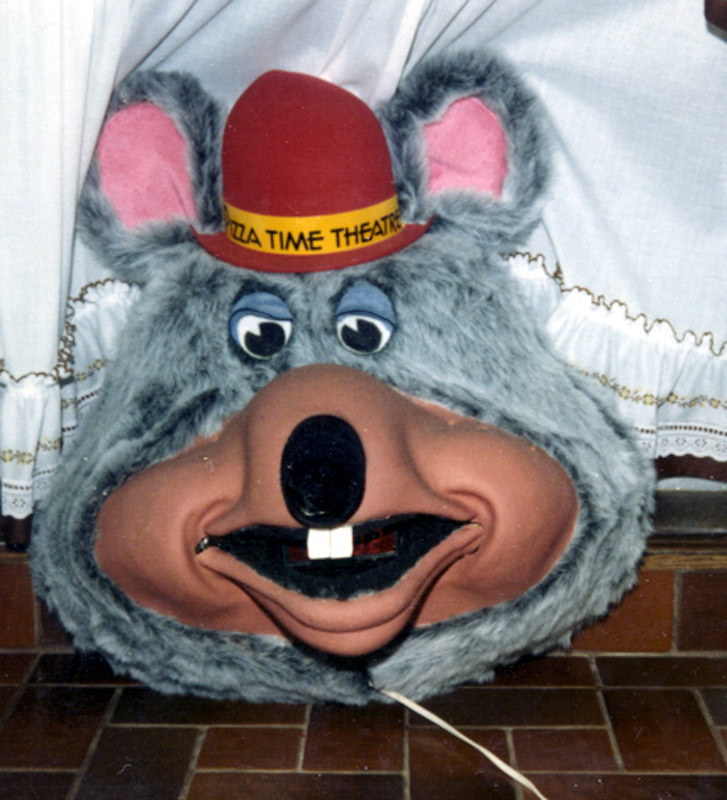 "Chuck E Cheese ""head clock"" made for Pizza Time Theaters. Clap  your hands Chuck opens his mouth to reveal clock display"