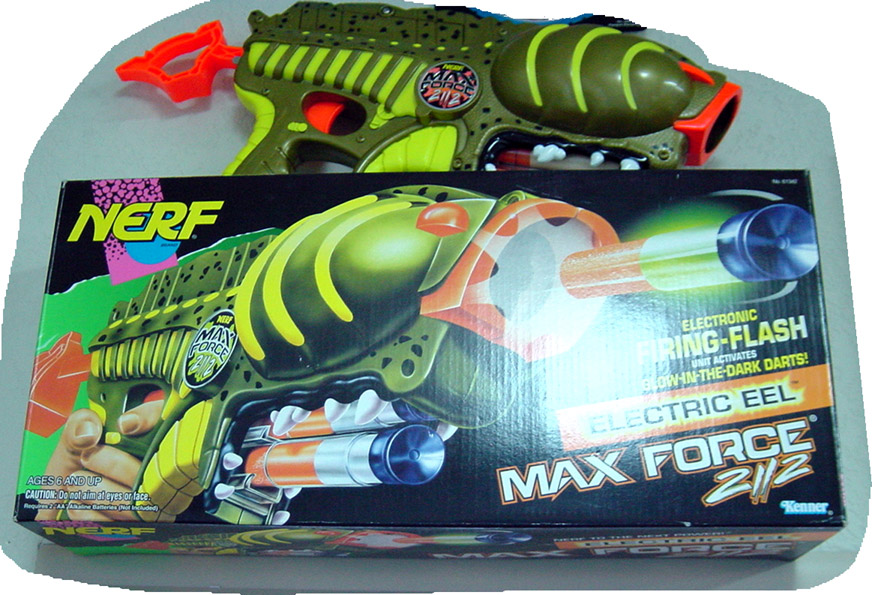 The Electric Eel laser effect dart gun sold to Hasbro Kenner