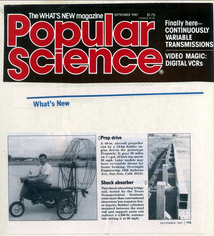 Propcycle in Popular Science