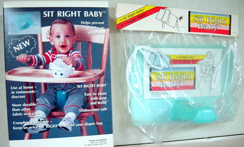 Sit-Right Baby device holds infants upright in high chair