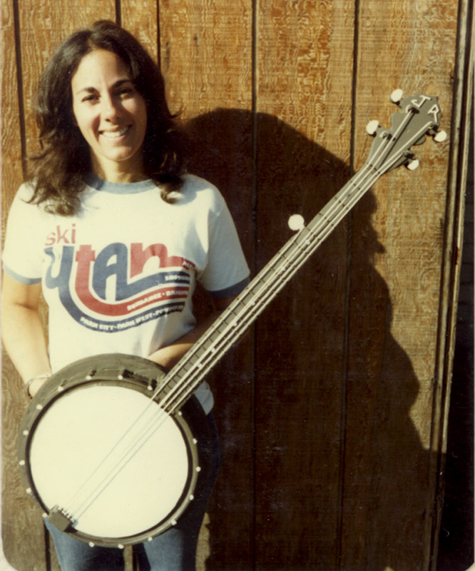Lynn holding one of the super light urethane banjos we made for Pizza Time Theaters